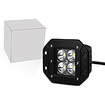 Amazon Com Auxbeam 4inch Led Light Bar Flush Mount Led