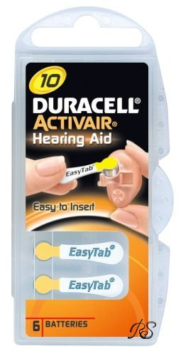 Duracell Hearing Aid Batteries Size 10 pack 60