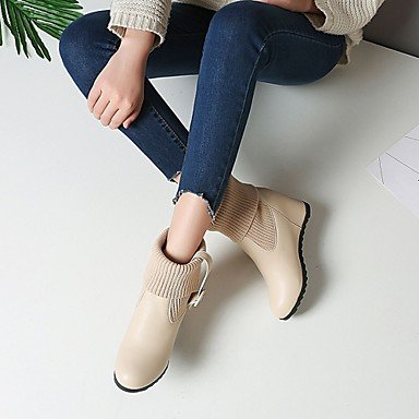Booties Boots RTRY Fall Toe Office 5 Casual Fashion US4 Buckle Career Round Winter amp;Amp; EU34 Ankle Wedge Women'S Boots UK2 4 Boots 2 5 Heel CN33 Shoes For Leatherette Ur7wqYt7