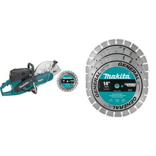 Makita EK7301X1 14-Inch Power Cutter with 4 Contractor Diamond Blades