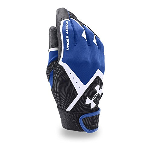 Under Armour Boys' Clean-Up VI Batting Gloves, Royal/Black, Youth Small