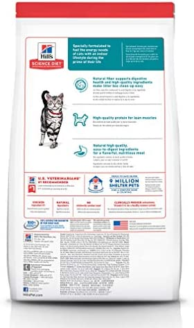 Hill's Science Diet Dry Cat Food, for Adult Indoor Cats, Chicken Recipe 3