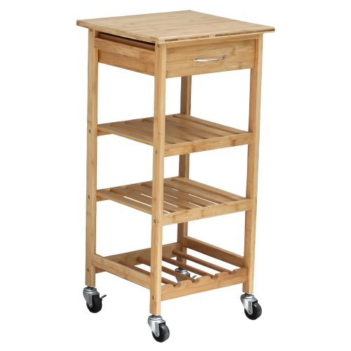 Oceanstar Bamboo Kitchen Trolley Home Kitchen Furniture Decor by Oceanstar