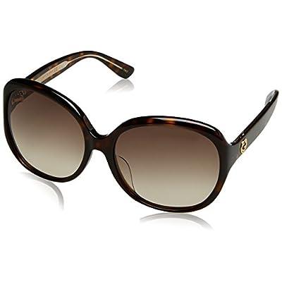 Gucci GG0080SK, Gafas de Sol Para Mujer, AVANA-AVANA-BROWN: Ropa y accesorios