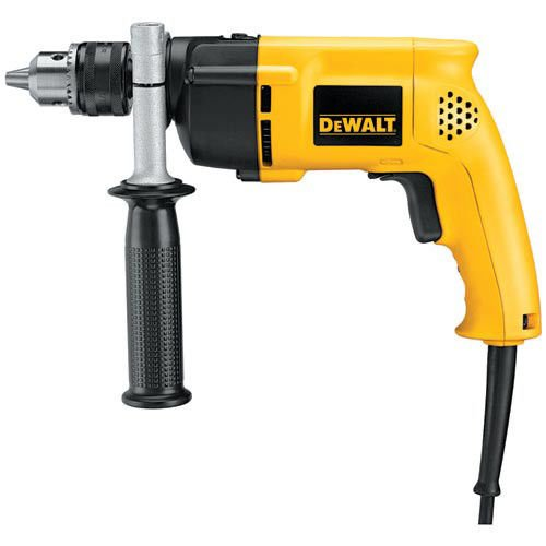 DEWALT DW511R Heavy-Duty 6.7 Amp 1/2-Inch VSR Single Speed Hammer Drill (Certified Refurbished) (Single Speed Impact Drill)