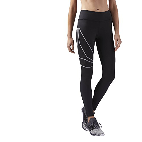 Reebok Women's Running Speedwick Tight, Black, Medium by Reebok