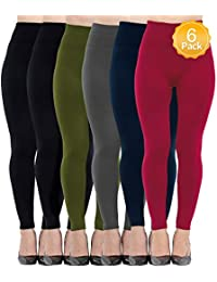 6 Pack Women's Fleece Lined Leggings,Soft,High...