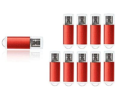 FEBNISCTE 10 Pack USB 3.0 Flash Drive Mini Metal 8GB 16GB 32GB Pendrive Bulk Memory Sticks from FEBNISCTE