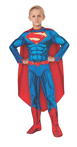 (Rubies DC Comics Deluxe Muscle-Chest Superman Costume, Small (4-6))