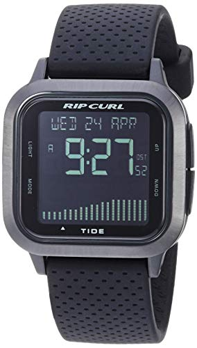 Rip Curl Men's Quartz Sport Watch with Silicone Strap, Black, 21.9 (Model: A1137MID1SZ)