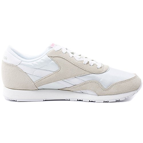 Reebok Classic Nylon Zapatillas, Mujer beige gris