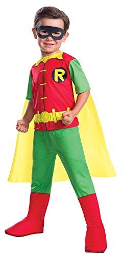 Rubie's Costume Boys DC Comics Robin Costume, Medium, Multicolor - Authentic Robin Costumes