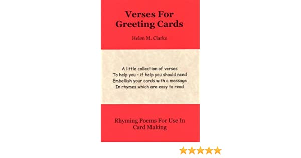 amazon com verses for greeting cards rhyming poems for use in card
