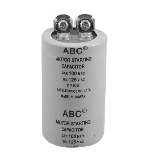 Aexit Cylinder 100MFD Passive Components 125VAC Motor Capacitors Starting Capacitor