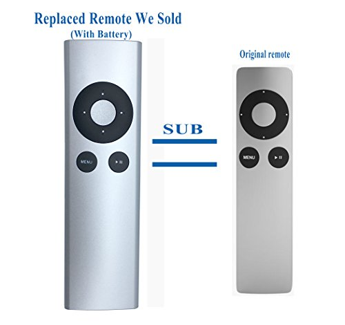 New Replaced Remote Fit for Apl tv 1 2 3 A1427 A1469 A1378 A1294 MD199LL/A MC572LL/A MC377LL/A MM4T2AM/A MM4T2ZM/A Mac Music ()