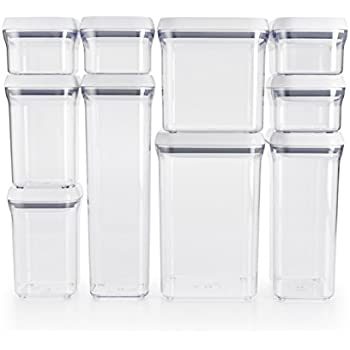 OXO Good Grips 10-Piece Airtight Food Storage POP Container Value Set  sc 1 st  Amazon.com & Amazon.com: Food Storage Containers - Set of 6 - Airtight Seal with ...