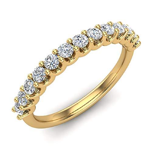 0.50 ct tw Diamond Wedding Anniversary Band 14K Yellow Gold (Ring Size 4)