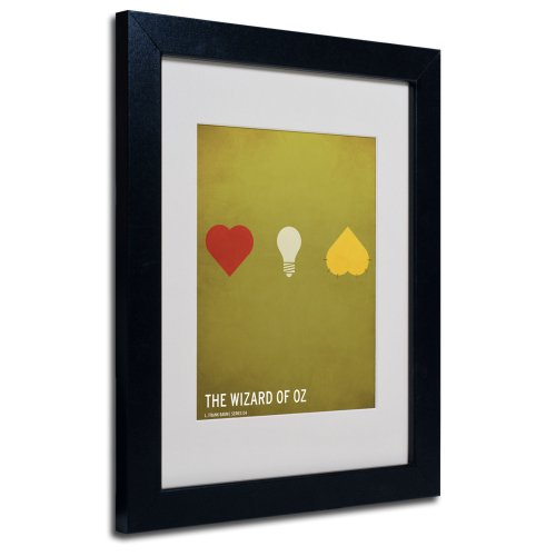 Wizard of Oz Artwork by Christian Jackson in Black Frame, 11 by 14-Inch by Trademark Fine Art