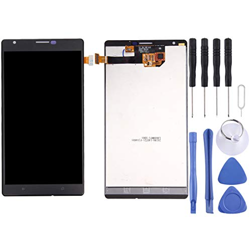 Ruanmaoshi Repair & Spare Parts LCD Screen and Digitizer Full Assembly for Nokia Lumia 1520 (Black) (Color : Black)