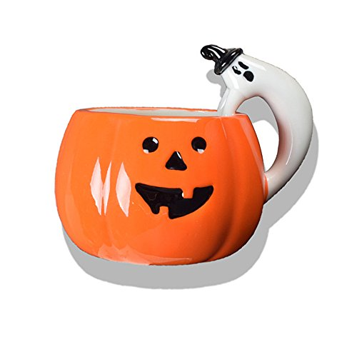 (ZaH 3D Halloween Mug Pumpkin Ghost Cup Theme Party Favor Ceramic Cups Fun Mugs Gift for Kids Women Men)