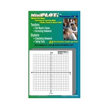 "Amazon.Com : Miniplot® Graph Paper: 10 Pads Of 3"" X 3"" Pre-Printed"
