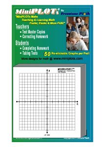 MiniPLOT Graph Paper Pads: 5 Pads Of 3x3 Inch Adhesive Backed XY Axis  Coordinate Grid