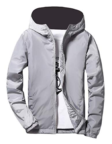 Solid Men College Gray Zipper Outwear Colored Coat Windbreaker Jacket Howme Thick Style 68Aqwp8