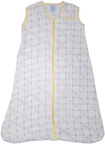 Halo 100% Cotton Muslin Sleepsack Wearable Blanket, Giraffe Plaid, X-Large