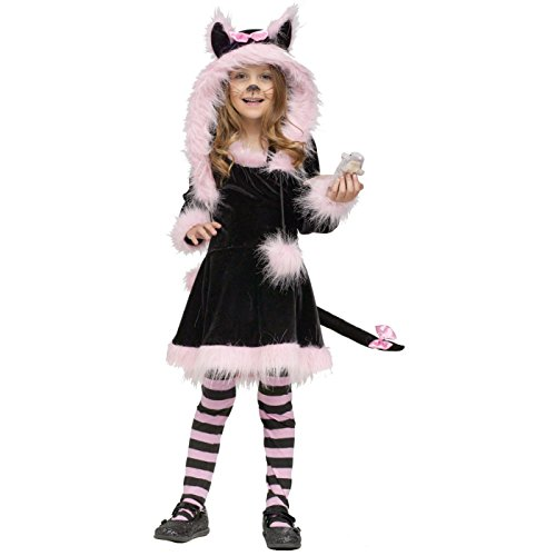 Fun World Costumes Baby Girl's Pretty Kitty Toddler Costume, Black/Pink, Large (Halloween Costume Ideas For Babies And Toddlers)