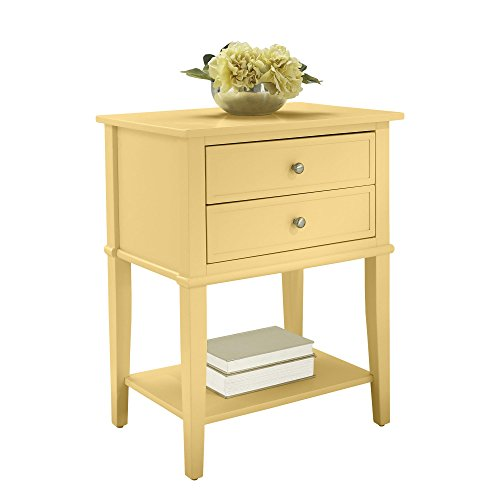 Ameriwood Home 5062496COM Franklin Accent Table 2 Drawers, Yellow by Ameriwood Home (Image #3)