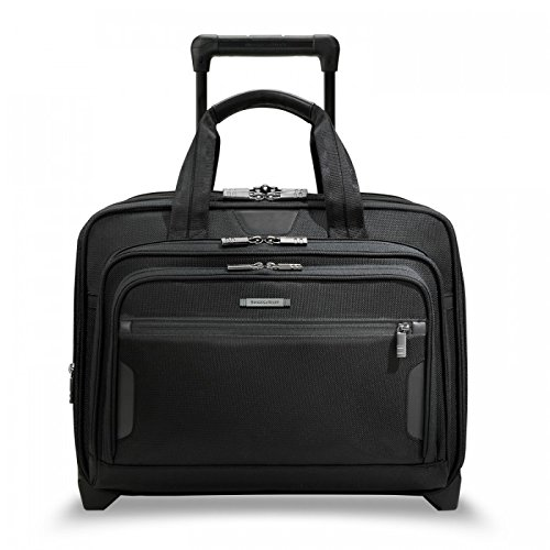 Briggs & Riley @ Work Luggage Expandable Rolling Brief, Black, One Size by Briggs & Riley