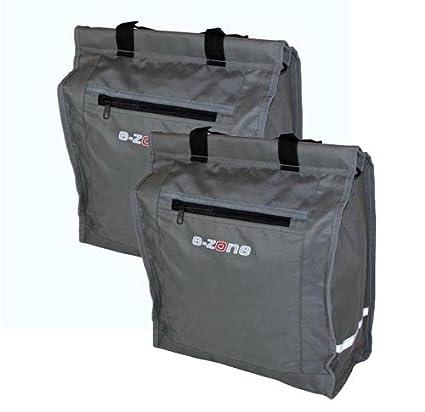 E-ZONE Gepäckträgertasche Einkaufstasche Regenhaube rot