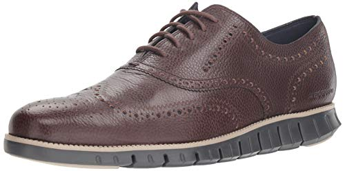 Wide Wing - Cole Haan Men's Zerogrand Wing OX Oxford, Black Walnut/Dove/Magnet, 10.5 W US