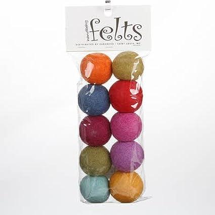 3cm Pink Color Felt Balls Handmade Felted Wool Beads Pom Pom DIY Crafts Supply