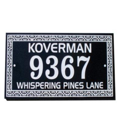 Granite address plaque