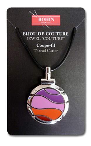 (Bohin Jewel Couture Thread Cutter Wave Fushia and Violet, Orange/Fuchsia)