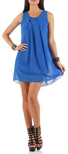 mailto Vestido elegante chifón transparente 6877 Mujer Talla Ùnica Azul