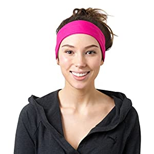 Pink Solid and Striped Headbands
