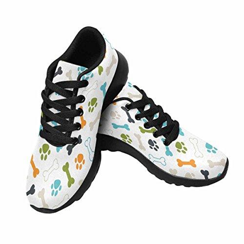 Scarpe Da Corsa Trail Running Da Donna Jogging Leggero Sportivo Da Passeggio Sneaker Atletico Colorato Cane Orma E Ossa Multi 1