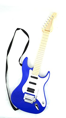 Toy Rock Star Guitar - Electric Kid's Battery Operated Blue Toy (Guitar Electric Rock)