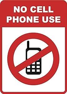 No teléfono celular uso–Señal de teléfonos celulares señales de prohibido–plástico