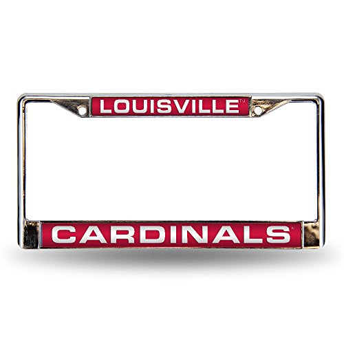 Rico Industries NCAA Louisville Cardinals Laser Cut Inlaid Standard Chrome License Plate Frame (Frame Chrome Laser Cardinals)