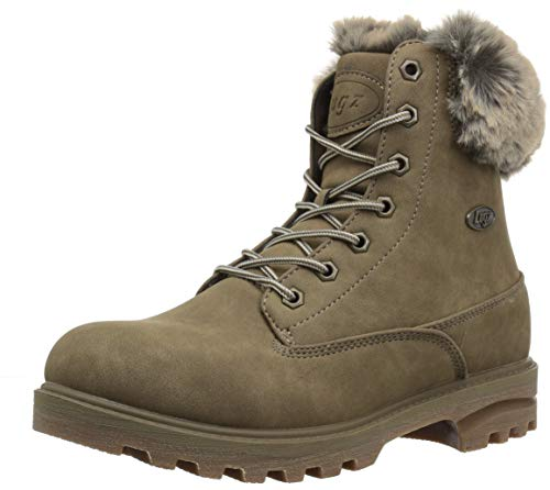 Lugz Women's Empire Hi Fur Fashion Boot, Minred Tan/Gum, 5.5 M US ()