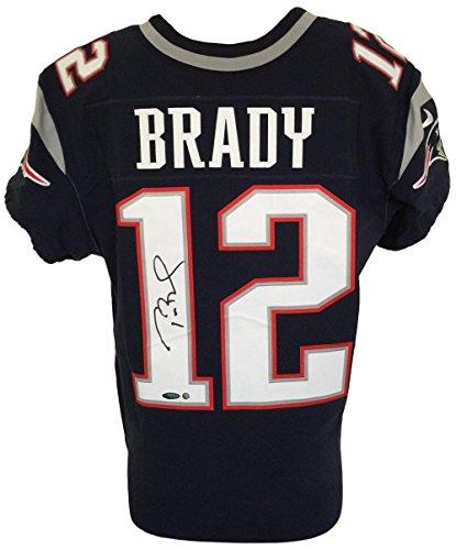 Tom Brady Signed New England Patriots Blue Nike Elite Jersey Tristar+Steiner