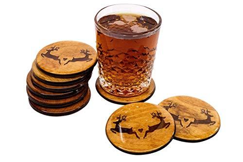 Premium Deer Coasters - Set of 4 3.5