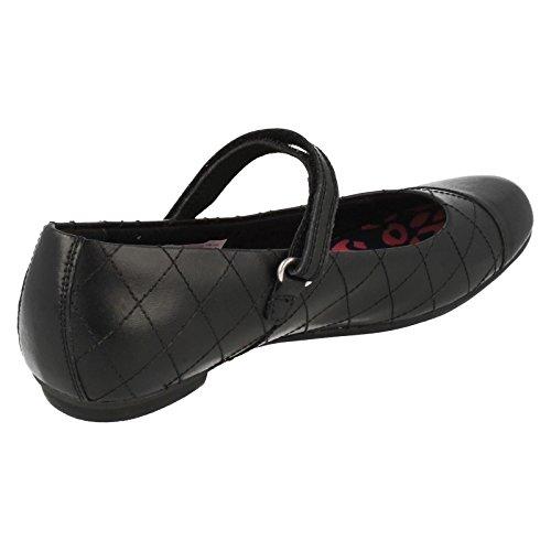 Clarks Kimberlygem Bootleg Mädchenschule Schuhe Black Leather 3 G