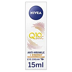 NIVEA Q10 Plus Vitamin C Moisturising Anti-Wrinkle Energy Eye Cream, with Q10 & Creatine for Tired Skin & Fine Lines, 15ml