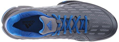Adidas Performance barricada 2016 zapato tenis, semi limo solar / negro / negro, 6,5 M con nosotros Gris/ negro/ azul (Iron Metallic Grey/Black/Shock Blue)
