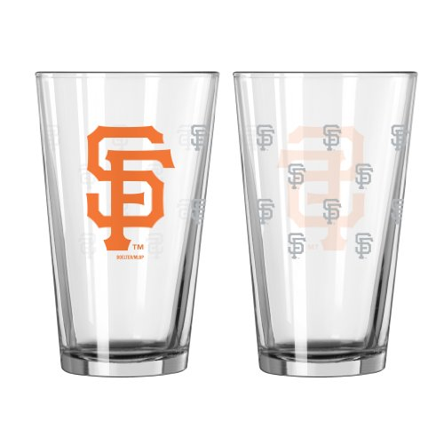 Boelter Philadelphia Phillies Glass - MLB San Francisco Giants Satin Etch Pint Glass Set (Pack of 2), 16-Ounce