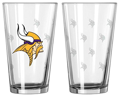 (NFL Pint Glass Cup (2 Pack) - Minnesota Vikings)